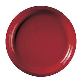 Plato de Plastico Rojo Round PP Ø290mm (25 Uds)