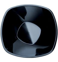 "Bol de Plástico PP Negro ""Square"" 3000ml Ø27,7cm (30 Uds)"