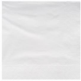 Servilleta de Papel Cenefa 25x25cm Blanca (100 Uds)