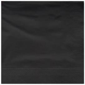 Servilleta de Papel Cenefa 25x25cm 2C Negra (200 Uds)