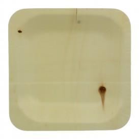 Plato de Madera Cuadrado 11,5x11,5cm (50 Uds)
