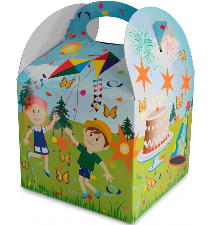 Caja de Menu Infantil Fiesta 131x131x115mm (25 Uds)