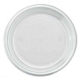 Plato de Plastico PS Hondo Transparente Ø220mm (30 Uds)