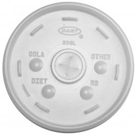 Tapa de plastico PS Translúcida con Cruz Ø11cm (100 Uds)