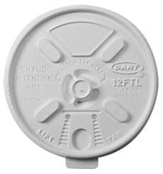 "Tapa de Plastico PS ""Lift n' Lock"" Blanca Ø8,9cm (100 Uds)"