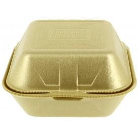 Envase Hamburguesa FOAM Grande Oro (125 Uds)