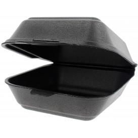 Envase Hamburguesa FOAM Pequeña Negro (125 Uds)