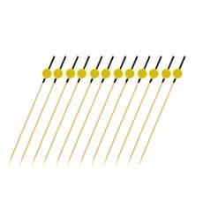 """Pinchos de Bambu Negro y Amarillo """"Japan"""" 120mm (200 Uds)"""