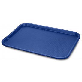 Bandeja Plastico Rectangular Fast Food Azul 30,4x41,4cm (1 Uds)