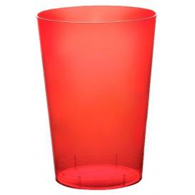 Vaso de Plastico Moon Rojo Transp. PS 230ml (50 Uds)