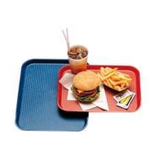 Bandeja de Plastico Fast Food Roja 35,5x45,3cm (1 Ud)