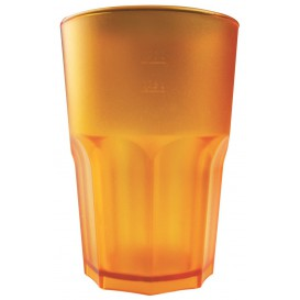 Vaso Reutilizable SAN Frost Naranja 400 ml (5 Uds)