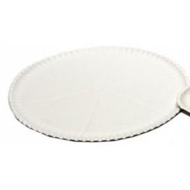 Plato para Pizza de Carton blanco Ø33cm (50 Uds)