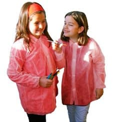 Bata Infantil Roja TST PP Con Velcro Sin Bolsillo (1 Ud)