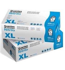 Guantes de Nitrilo Sin Talco Azul Talla XL 3,5g (100 Uds)
