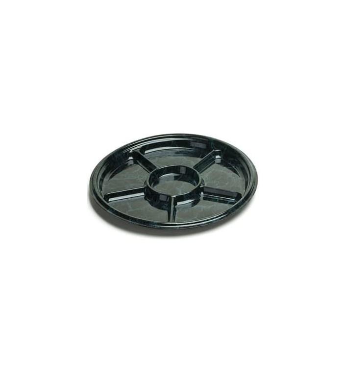 Bandeja Plastico 6C Marmol 30 cm (5 Uds)