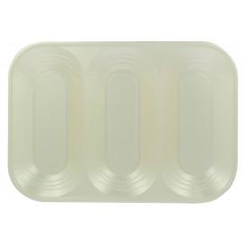 "Bandeja de Plastico PP ""X-Table"" 3C Perla 330x230mm (2 Uds)"