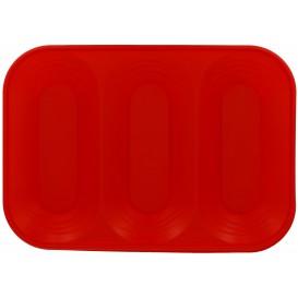 """Bandeja de Plastico """"X-Table"""" 3C Rojo PP 330x230mm (2 Uds)"""