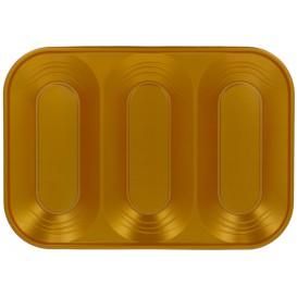 """Bandeja de Plastico PP """"X-Table"""" 3C Oro 330x230mm (2 Uds)"""