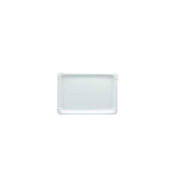 Bandeja de Carton Rectangular Blanca 18x24 cm (100 Uds)
