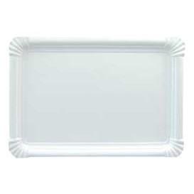 Bandeja de Carton Rectangular Blanca 25x34 cm (100 Uds)