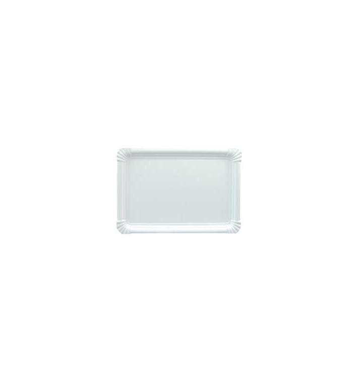 Bandeja de Carton Rectangular Blanca 31x38 cm (50 Uds)