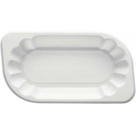 Bandeja de Plastico PS Blanca 175x95x40mm 300ml (250 Uds)