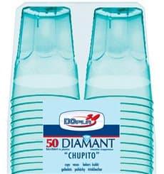 """Vaso Plastico Chupito """"Diamant"""" PS Cristal Azul 50ml (20 Uds)"""