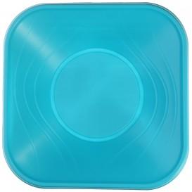 """Bol de Plastico PP """"X-Table"""" Cuadrado Turquesa 180x180mm (8 Uds)"""