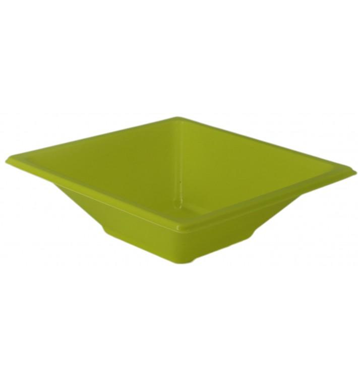 Bol de Plástico PS Cuadrado Pistacho 12x12cm (12 Uds)
