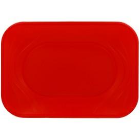 """Bandeja de Plastico """"X-Table"""" Rojo PP 330x230mm (2 Uds)"""