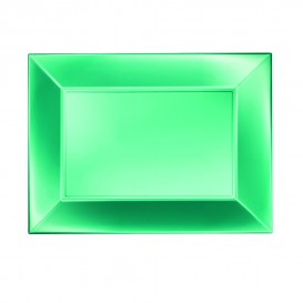 Bandeja Plastico Verde Nice Pearl PP 280x190mm (240 Uds)