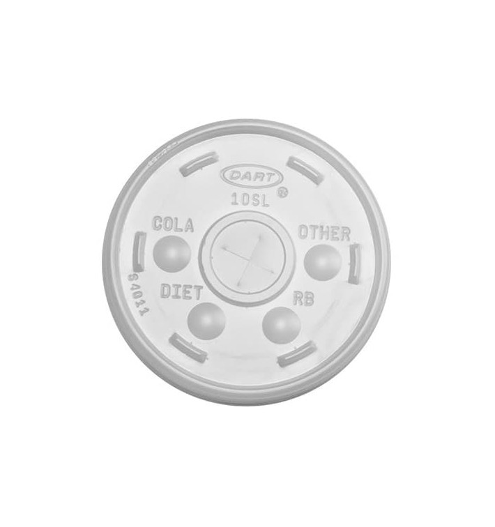 Tapa de Plástico PS Cruz para Vaso FOAM Ø9,4cm (100 Uds)