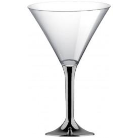 Copa Plastico Cocktail Pie Niquel Cromado 185ml 2P (20 Uds)