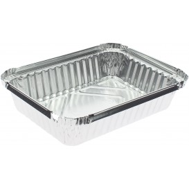 Bandeja Aluminio 6C. 590ml 191x141x33mm (100 Uds)