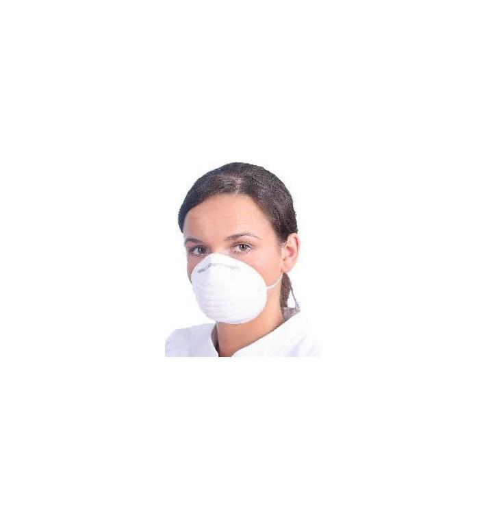 Mascarilla Bozal Tipo Concha en Polipropileno Blanco (50 Uds)
