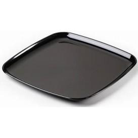 Bandeja Plastico Cuadrada Dura Negro 30x30cm (5 Uds)