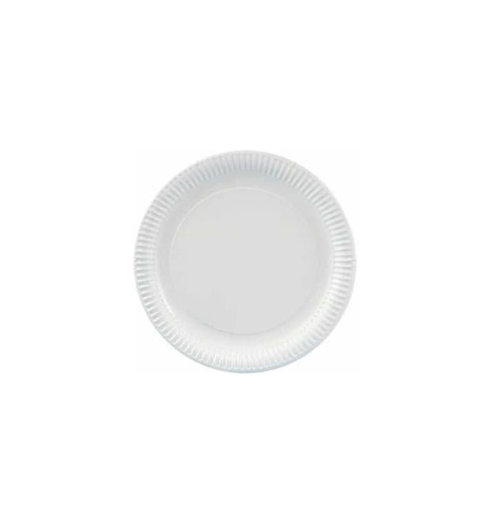 Plato de Carton Redondo Blanco 230mm (100 Uds)