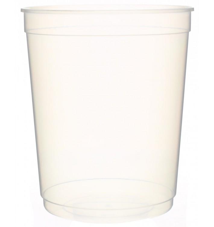 Tarrina Plastico Transparente PP 1000 ml Ø11,5cm (50 Uds)