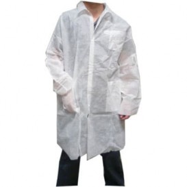 Bata Industria TST PP Velcro y Bolsillos Blanco XL (1 Ud)