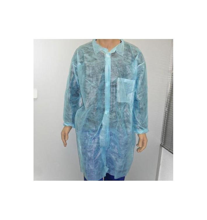 Bata Industria TST PP Con Velcro y Bolsillos Azul XL (1 Ud)