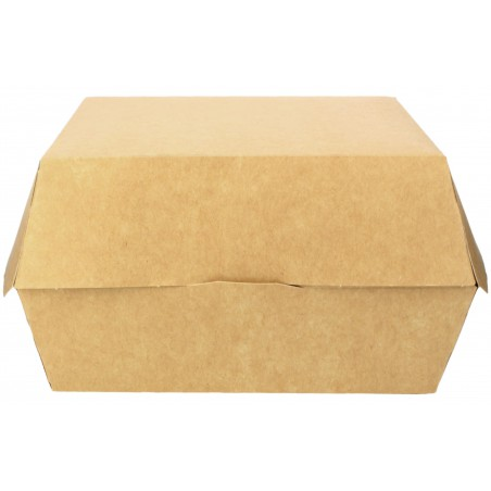 Caja Kraft para Hamburguesa Mega 14x14x4,5 cm (25 Uds)