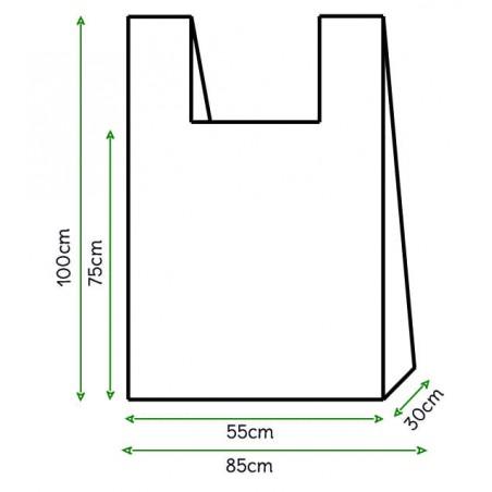 Bolsa Plastico Camiseta 85x100cm Blanca (50 Unidades)