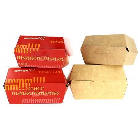 Caja Kraft para Hamburguesa 12x12x7 cm (25 Uds)