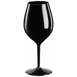 Copa Reutilizable para Vino Tritan Negro 510ml (1 Ud)