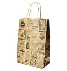 "Bolsa Papel Kraft con Asas ""Times"" 80g 20+10x29 cm (50 Uds)"