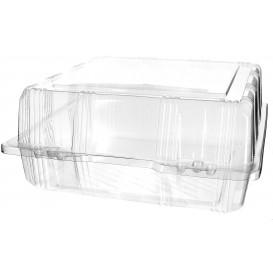 Envase Tapa Bisagra Repostería PET 22x22x10cm (20 Uds)