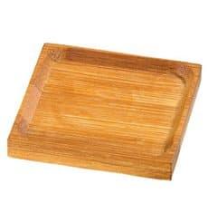 Plato Degustacion de Bambu 6x6cm (24 Uds)