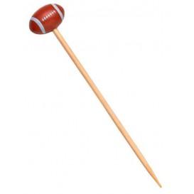 Pinchos de Bambu Decorados Rugby 120mm (100 Uds)