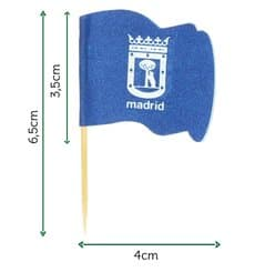 "Pinchos Banderita ""Madrid"" 65mm (14.400 Uds)"